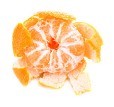 Ripe sweet tangerine, isolated on white