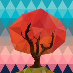 Polygonal tree illustration