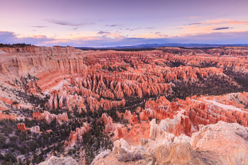 Inspiration Point at sunrise, Bryce Canyon National Park, Utah,