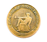 Commemorative medal for drinking beer barrels