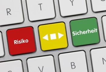 Risiko-Sicherheit. Tastatur