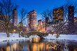 canvas print picture - Gapstow bridge in winter, Central Park