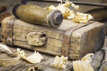 Old carpenter's hammer