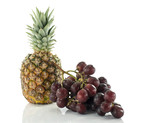 pineaple and red grapes