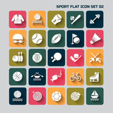 sport flat  icon set for web and mobile set 02