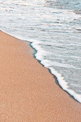 wawe on sand