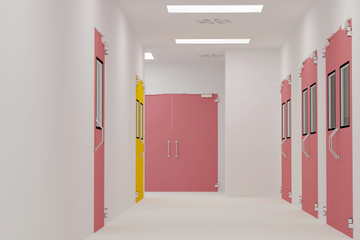 Corridors clean room