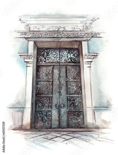 front door © okalinichenko