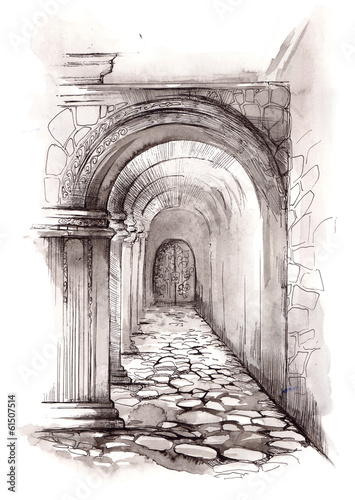 stone corridor © okalinichenko