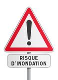 Fototapety Panneau - Risque d'inondation