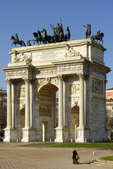 Arco della Pace from south, Milan