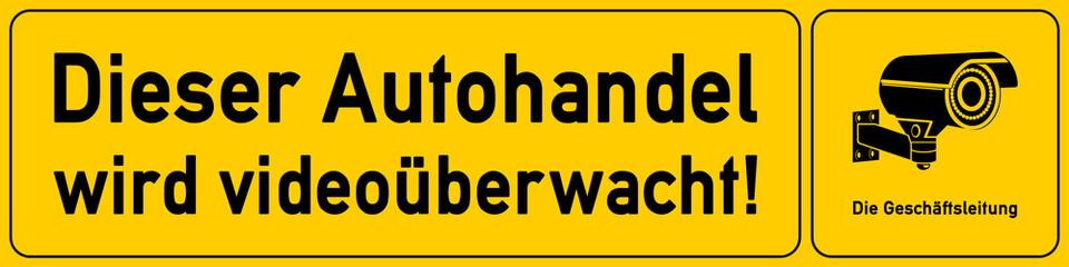 Autohandel - Hinweisschild Videoueberwachung - g530 - vu22