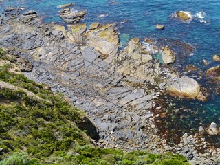 The rocky coast of Cape Otway in southern Victoria