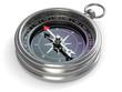 canvas print picture - Silver compass