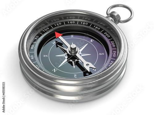 canvas print picture Silver compass