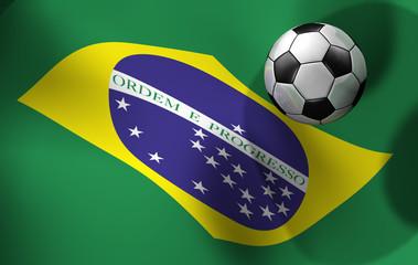 Flagge Brasilien Fussball 2014