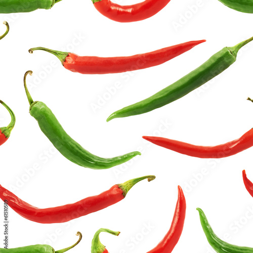 Chili pepper seamless background