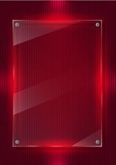 Parlak kırmızı ışıklı cam