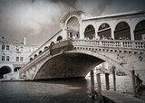 famous Rialto Bridge in Venice, Italy