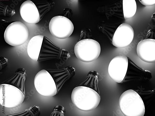 Leinwanddruck Bild it is a lot of led lamps
