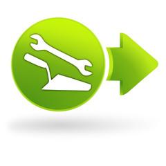 bricolage sur symbole web vert
