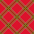 Checkered diagonal tartan fabric seamless pattern
