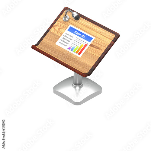 Keynote Icon Isolated on White