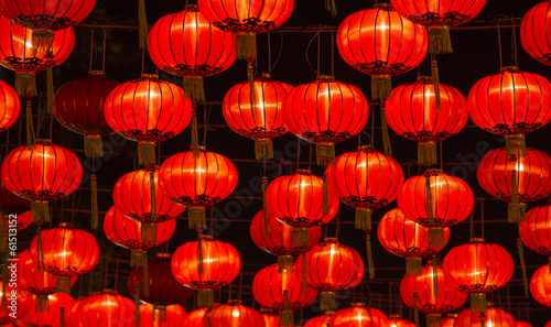 Tuinposter China Chinese New Year Lanterns