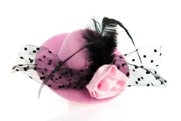 Pink female hat