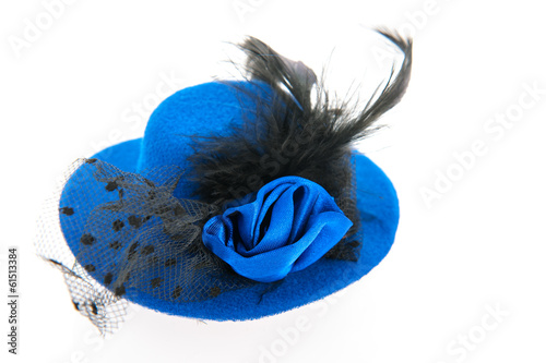 canvas print picture Blue female hat