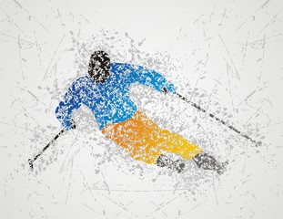 skiing design