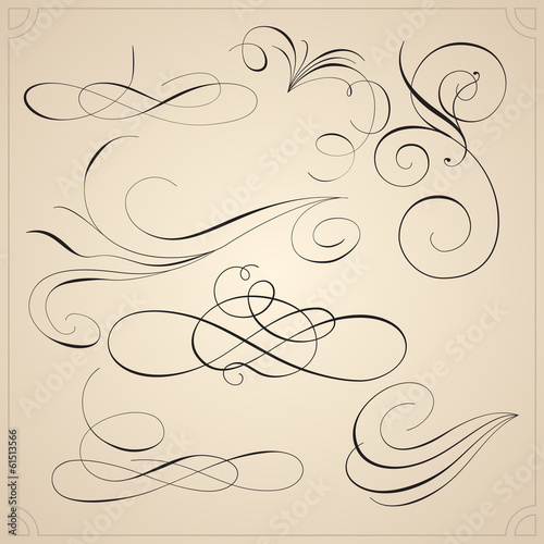 Calligraphic design elements and page decoration - 61513566