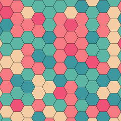 Abstract colorful Retro geometric hexagon
