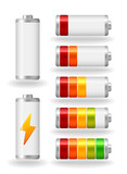 vector glossy battery fullness indicator
