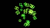 Bright Rotating Cubes - Loop Green