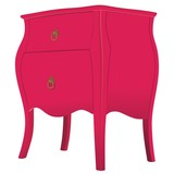 beautiful wooden dresser classic red