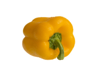 Yellow pepper in isolated white background