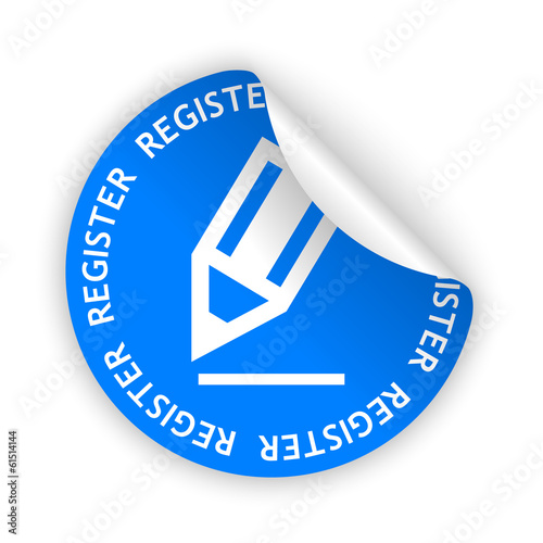 vector register bent sticker