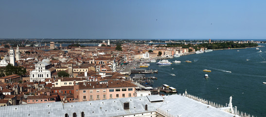 Venice, Italy . View of the city from a height