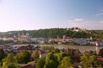 Passau, Dom St. Stephan, Rathaus, St. Michael, Veste Oberhaus, N