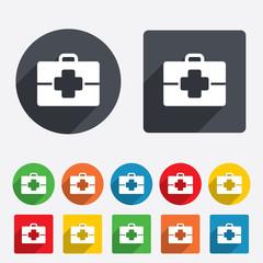 Medical case sign icon. Doctor symbol.