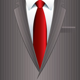 Man suit background vector illustration