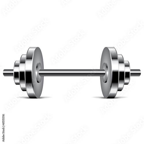 Metal dumbbell vector illustration