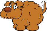Fluffy Smiling Cartoon Dog