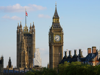 Big Ben And Victoria Tower Of House Of Parliament
