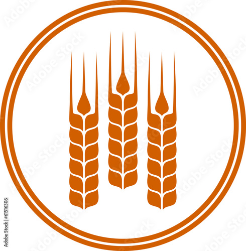 round icon with wheat ears