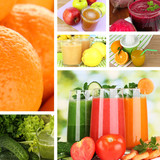 Fresh juice collage