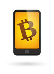 Smartphone with a bitcoin