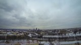Panoramic view of Vilnius city, Lithuania (Time Lapse)