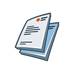 Letterheads icon in cartoon style